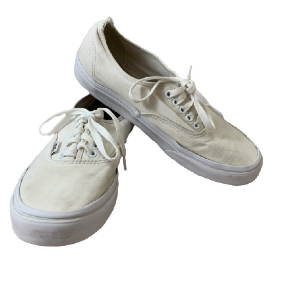 """Vans Other - VANS Authentic """"Off the Wall"""" White Lace Ups"""
